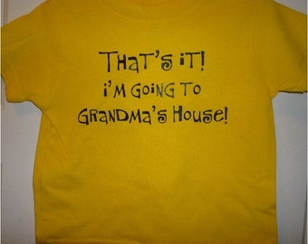 kids funny shirt That's It I'm Going to Grandma's yellow NEW tee