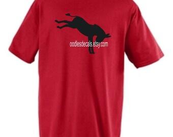 Mens Donkey Kicking Red T-shirt Custom