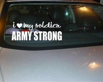 Love My Soldier Army Wife car decal sticker NEW