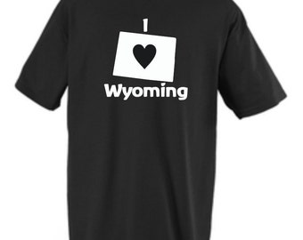 shirt Love Wyoming state custom design Available in any US state