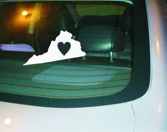 Virginia State decal vinyl sticker small size for water bottle or laptop or car