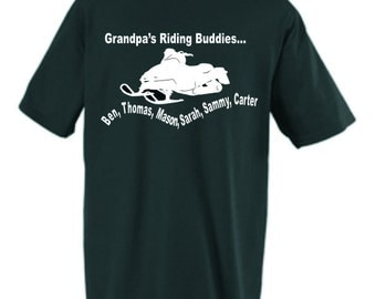 grandpa snowmobile shirt Personalized design NEW
