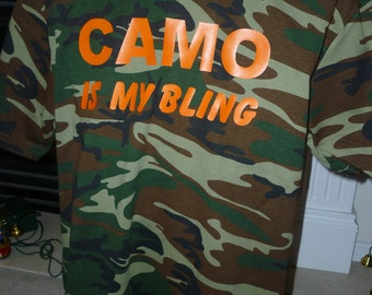 Camo is my Bling mens shirt