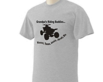 Grandpa Quad/atv Shirt Personalized Design Upto Size 3x
