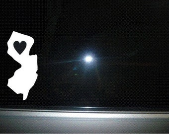 New Jersey state car decal sticker vinyl