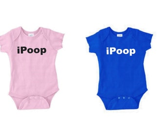 Ipoop Baby Shirt Custom Boys Or Girls