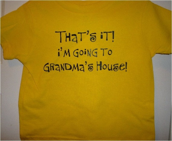 That's It I'm Going To Grandma's Kids Shirt New Youth Tee