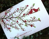 Holiday Greeting Card - Cardinal Design