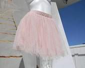 SALE-upcycled Tattered and Burned Pink Ballet Tulle Tu Tu xs/s