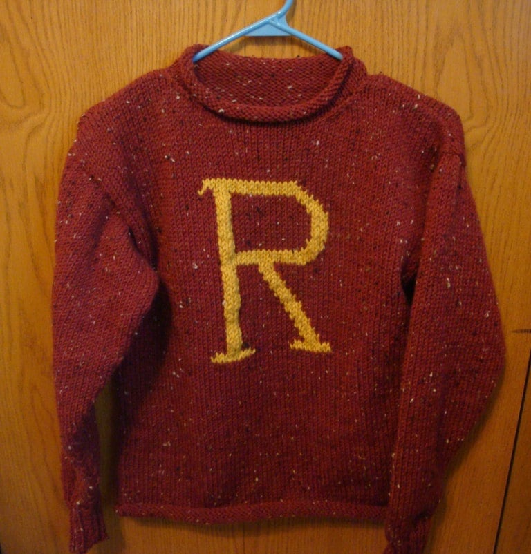Knitting Pattern For Weasley Sweater : Custom hand knit Weasley Sweater