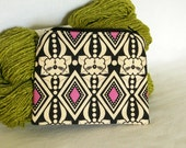 zipper pouch - small, ink