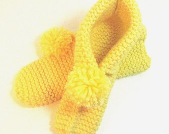 The All Day Cottage Knit Slipper -In Sunshine Yellow