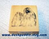 Shih Tzu, wood mounted, DOG, rubber stamp, rubberstamp, stamper, stamping, brand new, unused