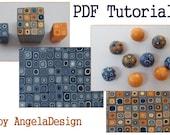 Polymer Clay Tutorial -  eBook  PDF How to Use a Retro Cane Tutorial and  Free Bonus eBook - Two colors Retro canes