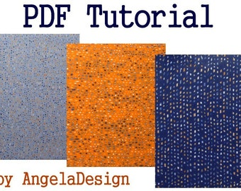 eBook PDF Tutorial - Polymer Clay Faux Tweed Fabric Sheet Tutorial