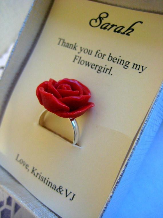 Flower girl ring, rose jewelry, ask flower girl.
