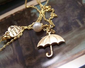 An Umbrella Necklace...Let Love be Your Umbrella