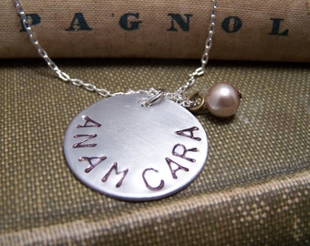 Friendship Necklace ... Soul Friend Necklace... Anam Cara in silver... Best Friend