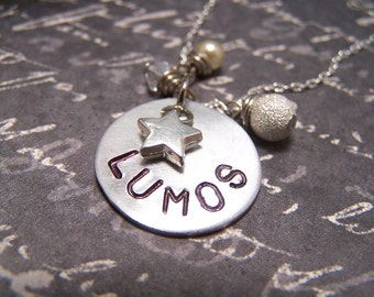 Lumos Necklace ...Wand Lighting Charm ...