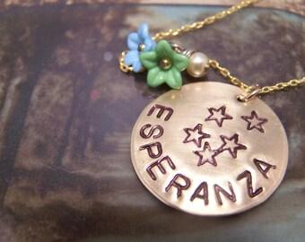 Spanish Necklace... Esperanza ... Hope
