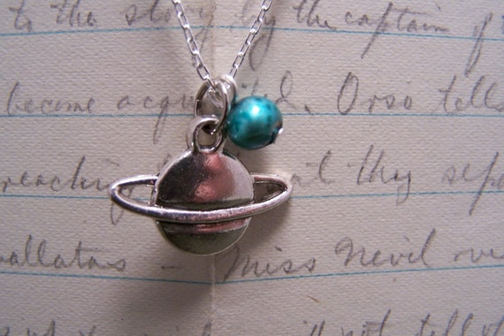 A Planet Necklace...The Cosmic Traveler in Pewter