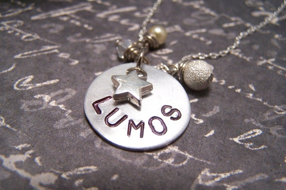 Lumos Necklace ...Wand Lighting Charm ...
