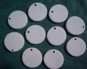 50 Round JEWELRY pendant 1.25 inch Blanks flat disk PIECES U PAINT Ceramic