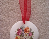 Bouquet of Flowers Hanging Ceramic Ornament