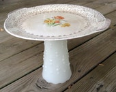 Golden Floral Cake Stand