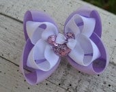 Lavender Minnie Double Layer Bow