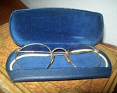 Vintage Gold Framed Spectacles & Velvet Lined Case