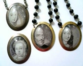 French family necklace. Large glass pendant necklaces. Two remaining.