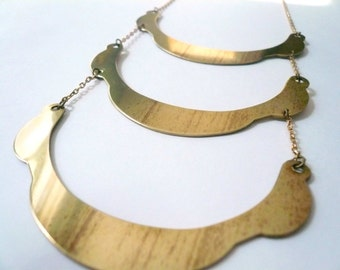 Three layer necklace Gold tier necklace Layered necklace Gold necklace Multiple chain necklace Bib necklace Statement necklace Boho necklace