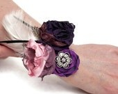 Vintage Style Wrist Corsage In Your Wedding Colors - Made To Order