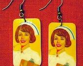 60s Nurse earrings