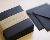 Black (mini) 2 3/4 x 2 3/4 Square Envelope 25/Pk