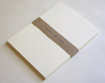 """Natural White Flat Cards(3.5""""x5"""") for 4 Bar 25/Pk"""