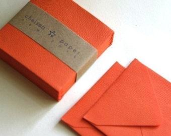 Lava  Orange (mini) 2 3/4 x 2 3/4 Square Envelope 25/Pk