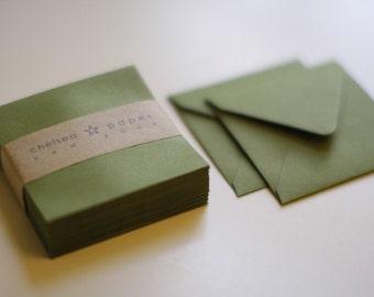 Olive (mini) 2 3/4 x 2 3/4 Square Envelope 25/Pk