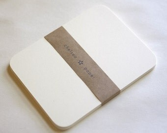 "Natural White Round Corner Flat Cards(4.25""x5.5"") for A2 25/Pk"