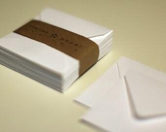 Solar White (mini) 2 3/4 x 2 3/4 Square Envelope 25/Pk