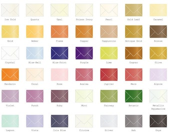 A2 Metallic Envelopes 25/Pk