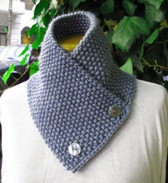 Hand knitted scarf neck warmer scarflette cowl chunky for women autumn ...