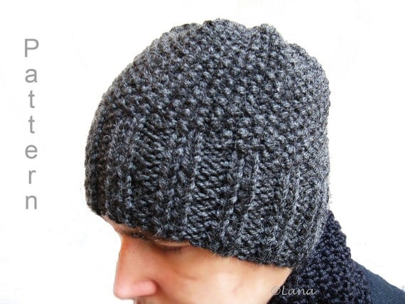 Knitted Beanie Patterns For Adults : PATTERN in PDF knitted hat beanie adult teen n15