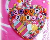 XX Candy Glam Candy Girl  Sprinkles Resin Heart Necklace XX