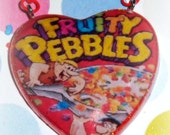 XX Candy Glam Resin Fruity Pebbles Heart NecklaceXX
