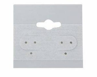 100 Gray Earring Cards 2 Inch
