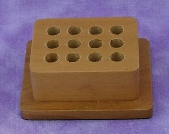 Premium Wood Stand For 12 Jewelry Design Stamps  SALE