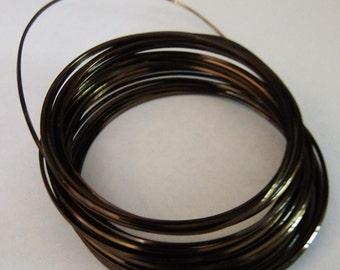18 GA Half Round Bronze Color Pro Craft Wire 7 Yards