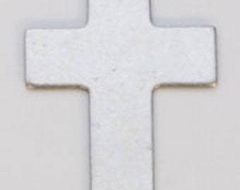 Nickel Silver 1 Inch Cross With Ring 24ga Package Of 6